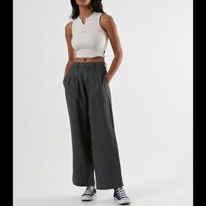 Afends Darcy Hemp Pleated Wide Leg Pants